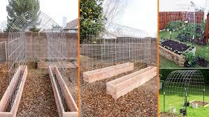Diy Garden Trellis Ideas Diy Raised Garden Box With Trellis Beesdiy Com