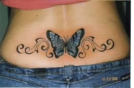 lower back cover up with butterfly for