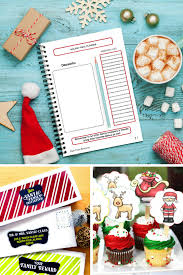 printable christmas bunting cards tags parties and more