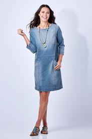 boho bird shift over denim dress womens short dresses