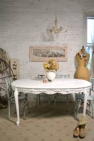 shabby chic dining room table vintage painted shabby chic furniture