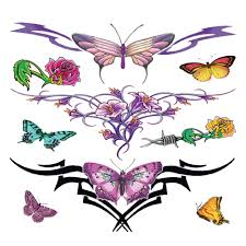 butterfly designs lower back designs of