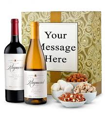 wine gift ideas napa valley wine duet with personalized gift box