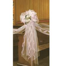 pew decorations for weddings wired ivory wedding lace bow church pew decorations this was so