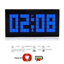 t harger horloge de bureau t tocas tm nouveau digital numérique grand chiffre led horloges
