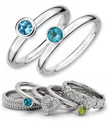 pretty stone rings images Mothers rings birthstone solitaire rings smaller stone jpg