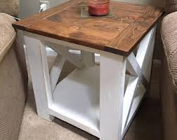 Coffee And End Table Set Farmhouse End Table Etsy