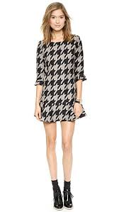 houndstooth dress j o a houndstooth dress with fluted hem shopbop