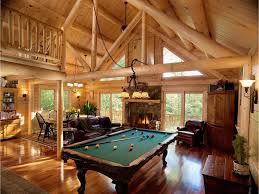 rustic game room with high ceiling u0026 wall sconce zillow digs