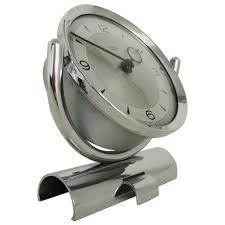 mechanical desk clock english mid century modern chrome mechanical 30 hour smiths