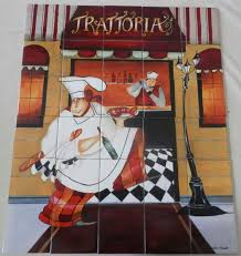 trattoria jg tile mural our decorative tiles of chefs are