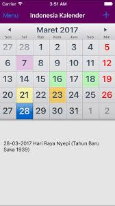 Kalender 2018 Hari Libur Indonesia Kalender Indonesia 2018 On The App Store