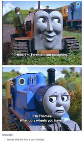 Thomas The Tank Engine Meme - thomas the tank engine funny meme skylikes yahoo image search