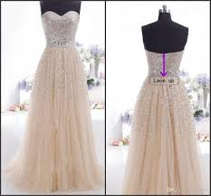 ready to ship in stock prom dresses under 100 2015 champagne