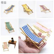 aliexpress com buy mini beach lounge chair dollhouse miniature