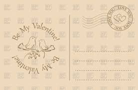 vintage postcard for valentines day be my valentine vector image