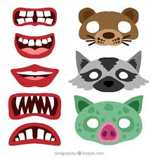 pack of photo booth decorative items vector free