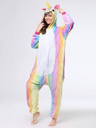 rainbow unicorn kigurumi pajamas onesie for adults