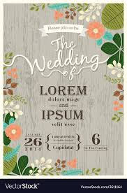 vintage wedding invitation vintage wedding invitation card floral background vector image