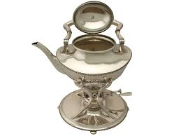 Queen Anne Style by Antique Queen Anne Style German Silver Spirit Kettle C 1910