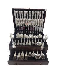 paris by gorham sterling silver dinner flatware set art nouveau