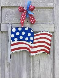 American Flag Decor American Flag Door Hanger Usa Sign American Door Hanger 4th Of