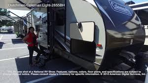 coleman travel trailers floor plans dutchmen coleman light 2855bh youtube