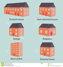 types of mugs types of houses stock vector image 42263677