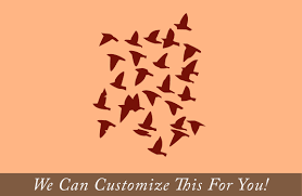 flying flock of birds in sky small set of 25 wall vinyl decal