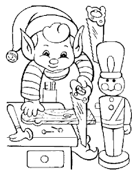 elf coloring pages elf working christmas coloring