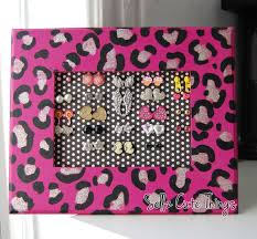 earring holder for studs sellzcutethings diy leopard print stud earring holder
