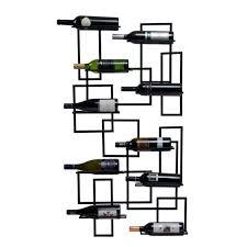 amazon com oenophilia mid century wall mount wine rack 10