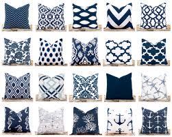 navy throw pillows ikat pillow covers polka dots nautical