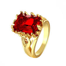 red gold rings images Zr101 a 8 top quality yellow gold color red zircon stone ring jpg