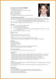 Fluent In English Resume 8 Cv Model In English Reporter Resume