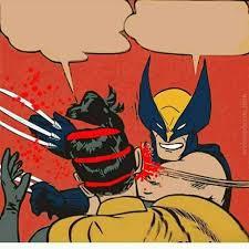 Batman Slapping Robin Meme - template wolverine what the hell my parents are dead batman