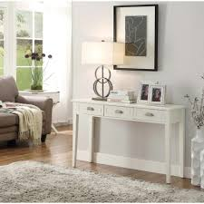White Wooden Furniture Home Decorators Collection Amelia 3 Drawer White Wooden Console