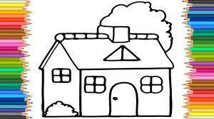 house pine tree coloring pictures l coloring drawing pages kids