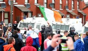 rioting breaks out in belfast after anti internment rally is