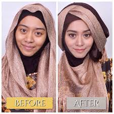 tutorial makeup natural hijab pesta new tutorial hijab pesta inivindy