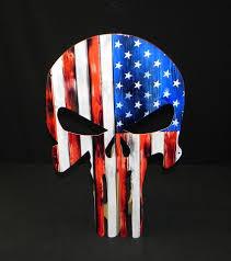 American Flag Skull Americana Signs From Garage Art Llc