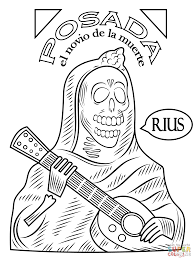 day of the dead coloring page free printable coloring pages