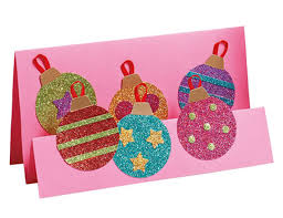 glitter christmas card christmas lights card and decore