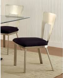 Silver Dining Chair Deal Alert Furniture Of America Sculpture Ii Contemporary Satin