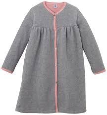 robe de chambre 2 ans petit bateau robe de chambre polaire uni fille gris fumée