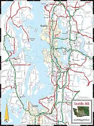 seattle map seattle wa map