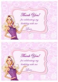 birthday card barbie free printable invitation design