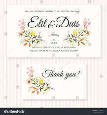 Wedding Invitations And Rsvp Cards Wedding Invitation Thank You Card Save Stock Vector 151123865