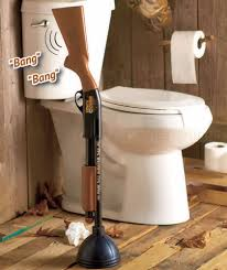 Bathroom Home Decor by The Redneck Gun Toilet Plunger Shotgun Bathroom Home Decor Great