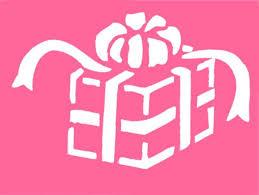 gift box stencil velas stenciling box and